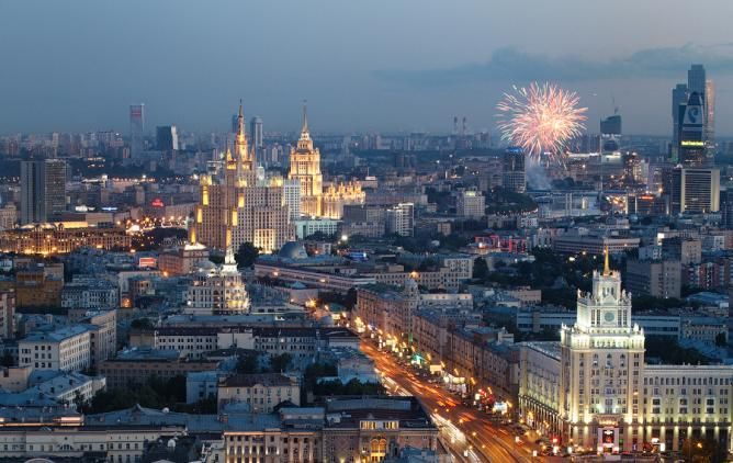 Moscow - fireworks