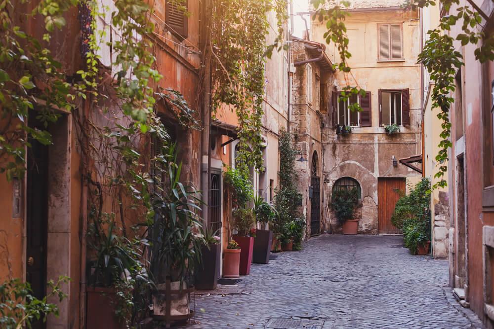 Alley in Tuscan village medium