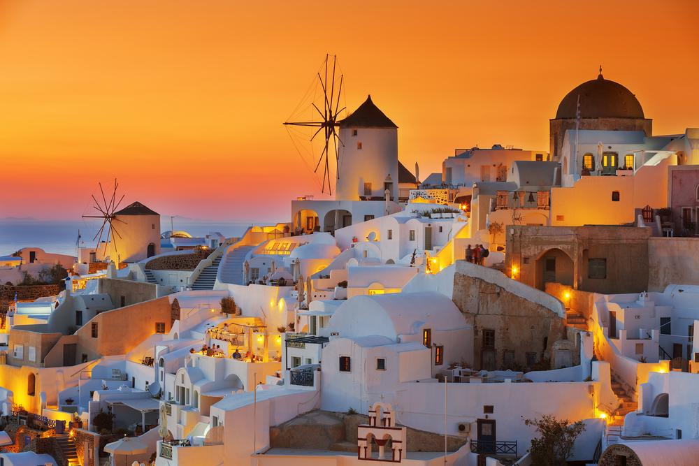 Oia,At,Sunset,,Santorini